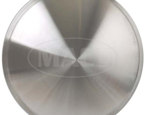 "Wheel Cover Set Of Two, Full 'Moon' Style, Brushed AluminumLook Stainless, For 15"" Steel Wheels"