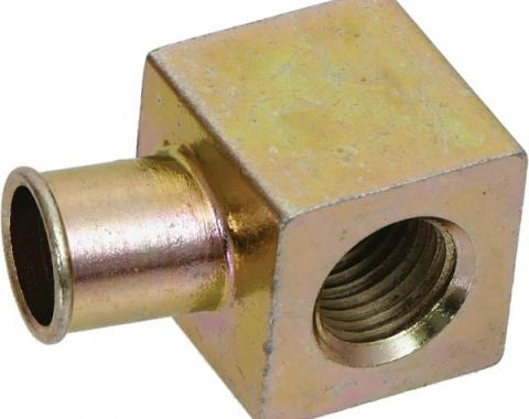 PCV Connector Elbow - Finished In Gold Dichromate - Before 2-21-69 - 390 GT, 428 CJ & 428 SCJ V8
