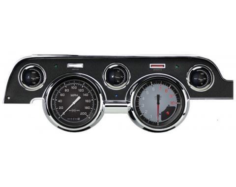 Mustang Classic Instruments® 5-Gauge Set, Autocross Style, Includes Dash Bezel, 1967-1968