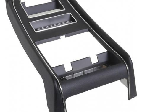 Ford Mustang Dash Center Trim Panel - Black - No Gauge Openings - For Standard Interior