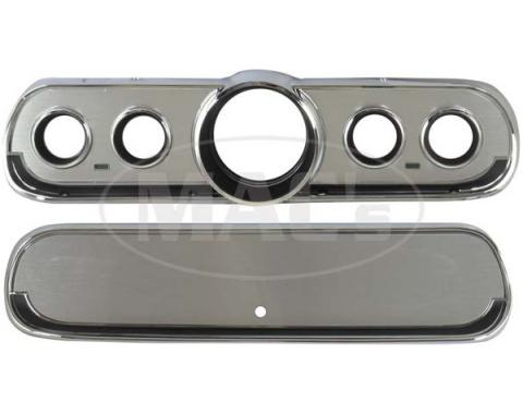 Ford Mustang Brushed Aluminum Instrument Bezels - Except GT
