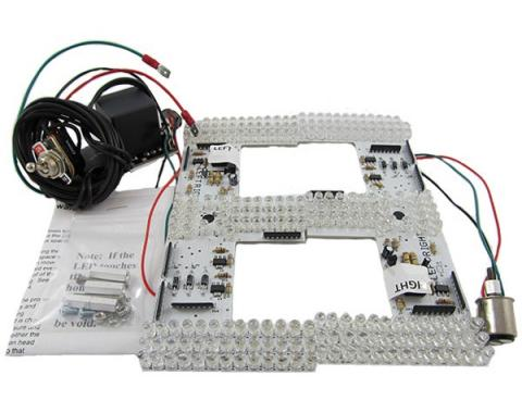 Mustang Sequential LED Tail Light Kit, 1967-1968