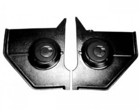 "Ken Harrison Combination Speaker and Kick Panel, 6.5"" Speaker, 67-68 Mustang Hardtop and Fastback"
