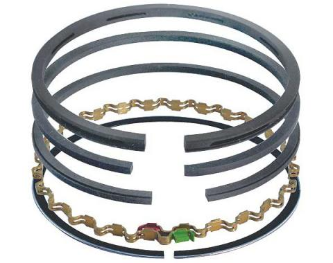 Piston Ring Set - Cast Iron - Comp Size .078 & .093, Oil Size .187 - 260 V8 - Choose Your Size