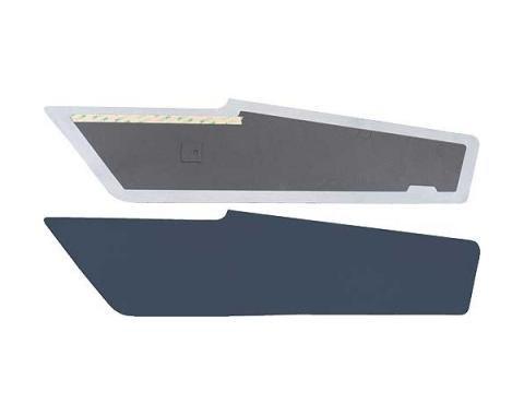 Ford Mustang Sail Panels - Dark Blue Tier Grain Vinyl - Fastback
