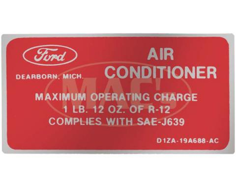 Ford Mustang Decal - Air Conditioning Charge