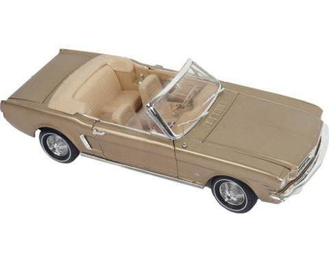1964 1/2 - 1965 Ford Mustang Convertible Prairie Bronze with Tan Interior (Golden 50th Anniversary of Mustang) 1/18