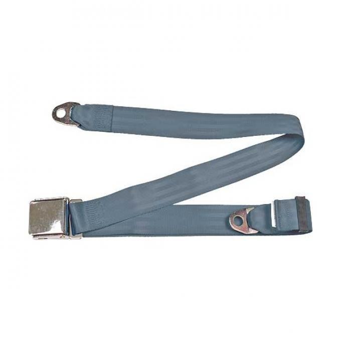 "Seatbelt Solutions Universal Lap Belt, 74"" with Chrome Lift Latch 1800604002 | Blue"