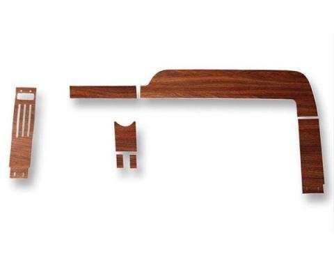 Ford Mustang Vinyl Wood Grain Dash Applique Set - 7 Pieces - Instrument Cluster