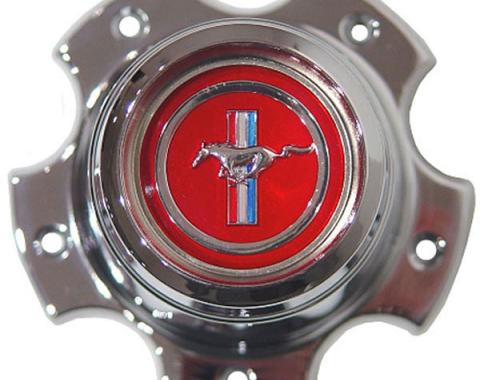 "Daniel Carpenter Wheel Center Cap / 4-3/8"" Dia / Red Center W/ Pony D3ZZ-1130-R"