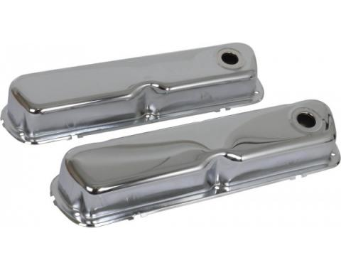 Valve Covers - Chrome - 260, 289, 302 & 351W V8