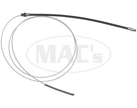 Ford Mustang Rear Emergency Brake Cable - Right - 131 - 6 Cylinder Before 2-17-1969