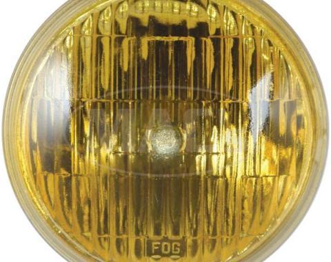Ford Mustang Fog Light Sealed Beam Bulb - G.E. Logo & Word Fog On Amber Lens