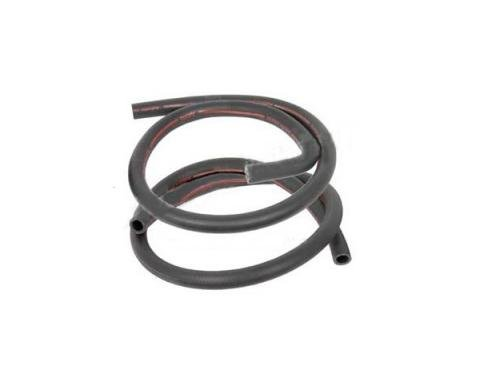 Ford Mustang Heater Hose Set - Exact Reproduction - 2 Pieces - Red Stripe - For Cars With Air Conditioning - Before 2-1-1970
