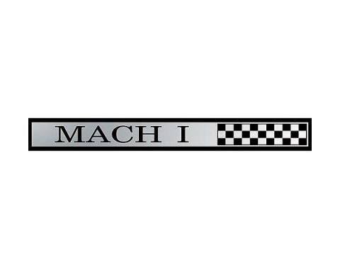 Daniel Carpenter Ford Mustang Dash Panel Emblem - Mach 1 - Peel & Stick Type C9ZZ-6304460-AI