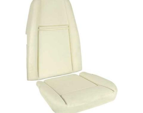 Ford Mustang Seat Foam Set - Includes Seat Cushion & Seat Back - For Mach 1 Interior Hi-Back Bucket Seats