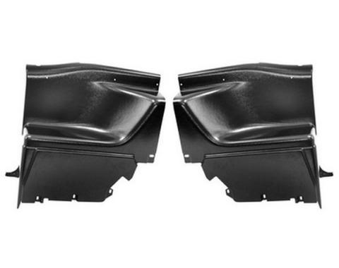 Qtr Panel Trims / Fastback / Fold Seat / 2 Pcs / Lower