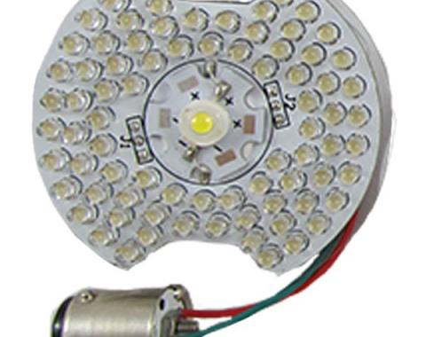 Mustang LED Front Lamps, White/Amber, Pair, 1964-1973