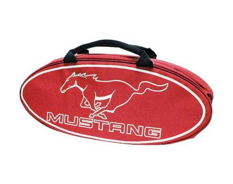 GoBox - Canvas - Red Nylon/Polyester With A White Mustang Running Horse Logo