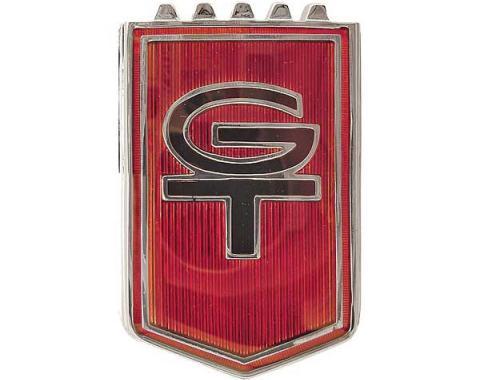 Ford Mustang Front Fender Emblem - GT - Ceramic Insert - Before 10-1-1965
