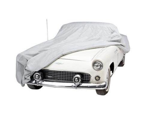 Ford Mustang Car Cover - Technalon 2 - Gray - Mirror PocketOn The Left Side - Hardtop And Convertible
