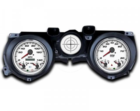 Mustang - New Vintage USA Performance Series Kit - 3 in 1 Style Gauges, White Dial - 1971 - 1973