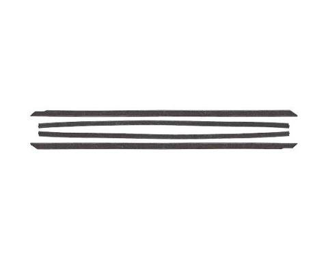 Ford Mustang Belt Weatherstrip Kit - 4 Pieces - Inner & Outer - Black Bead - Early Fastback - Door Windows