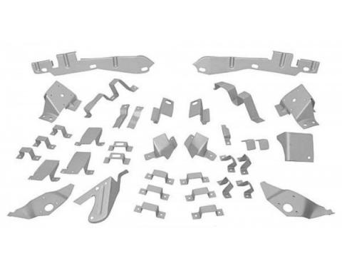 Mustang Fastback Body Shell Bracket Kit, 37 Piece, 1965-1966