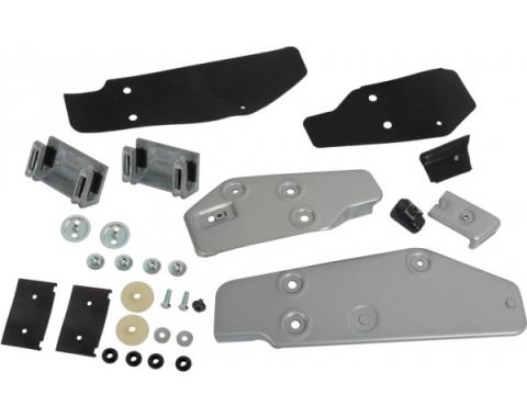 Door Glass Bracket and Stop Kit - Front and Rear - Right Side