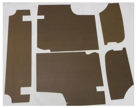 "Mustang Trunk Upholstery Panel Kit, 1/4"" Tempered Hardboard, 1964-1966"