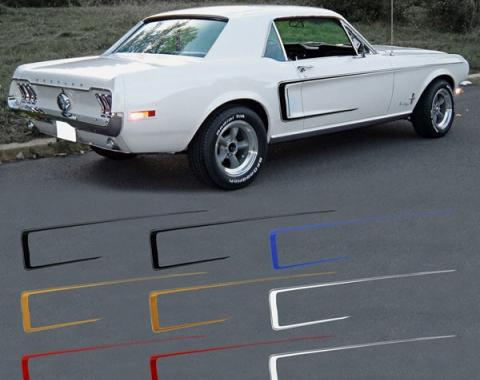 Ford Mustang Exterior Stripe Kit - C Stripe - Red Reflective
