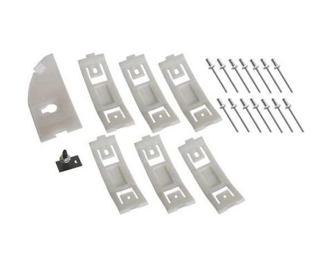 Ford Mustang Rocker Moulding Hardware Kit - 23 Pieces - Left