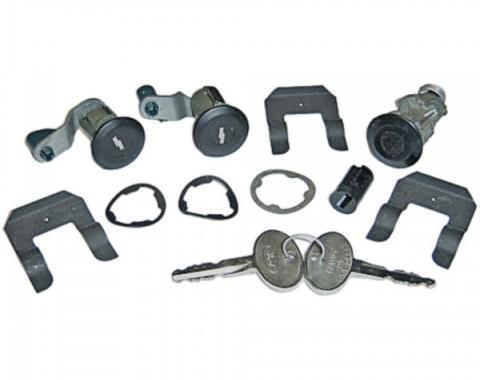 Ford Mustang Complete Lock Set, Black Anodized, 1987-1993
