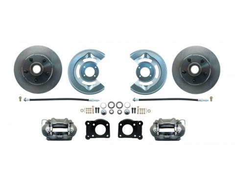 "Ford 8.8-9"" Rear End Disc Brake Kit with E-Brake Standard Rotors"