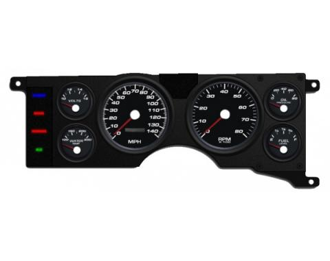 Mustang - New Vintage USA Performance Series Kit - 6 Gauge Package, Black Dial - 1979-1986 -  Programmable Speedometer MPH