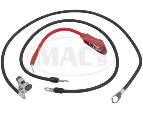 Ford Mustang Battery Cable Set - Reproduction - All 6 Cylinder Engines