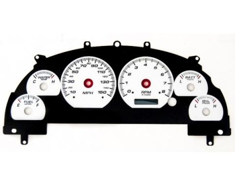 Mustang  - New Vintage USA - Gauge Cluster Overlay - Performance ll Series, Black Dial- 1999-2004