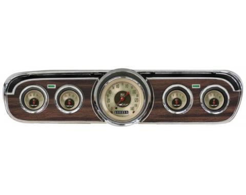Mustang Classic Instruments® 5-Gauge Set, All American Nickel Series, 1964-1966