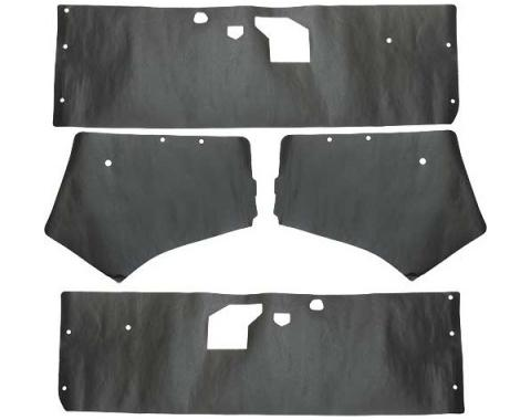 Ford Mustang Door Trim Panel Water Shields - 4 Pieces - Coupe