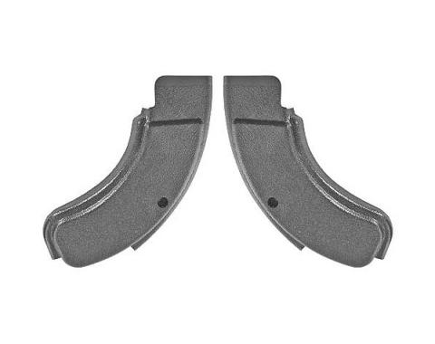 Daniel Carpenter Ford Mustang Bucket Seat Hinge Covers - Black D1ZZ-6561692
