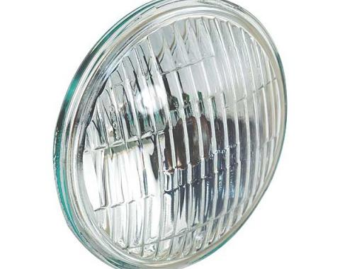 Ford Mustang Fog Light Sealed Beam Bulb - G.E. Logo & Word Fog On Clear Lens