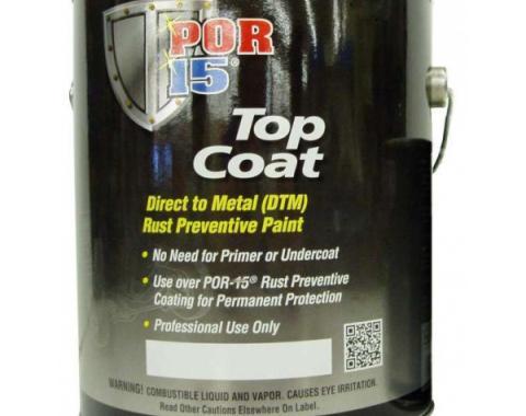 POR-15 Top Coat Paint, Gallon, Assorted Colors