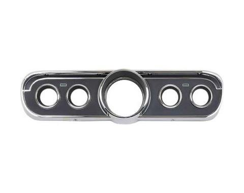 Ford Mustang Instrument Bezel - Black Plastic Camera Case Finish And Chrome - For Mustang GT