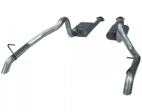 Mustang Flowmaster American Thunder Stainless Steel Catback Exhaust System, 1987-1993