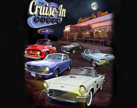 Ford Cruise In Diner T-Shirt, Black