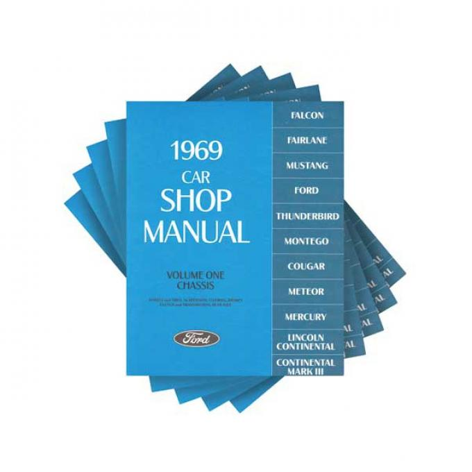 1969 Ford, Lincoln and Mercury Car Shop Manual - 5 Volume Set - 1,446 Pages