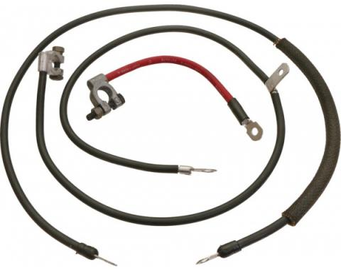 Ford Mustang Battery Cable Set - Reproduction - All 6 Cylinder & V-8 Engines - Heavy Duty