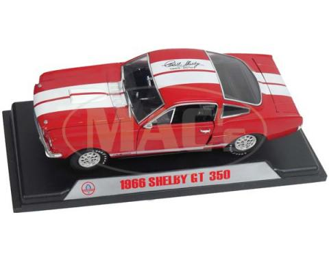 Mustang Model, Shelby GT350, Red, 1:18 Scale, 1966