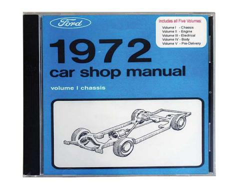 1972 Ford and Mercury Car Shop Manual CD - For Windows Operating Systems Only