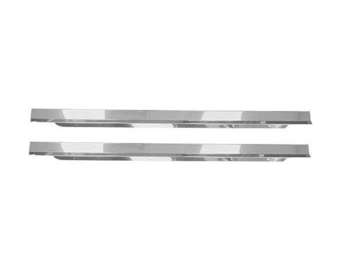 Ford Mustang Accessory Door Sill Plates - Stainless Steel